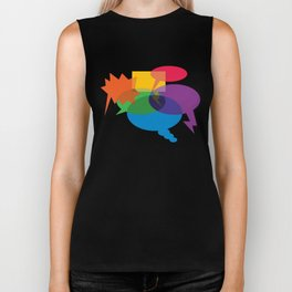 Speech Bubbles Biker Tank