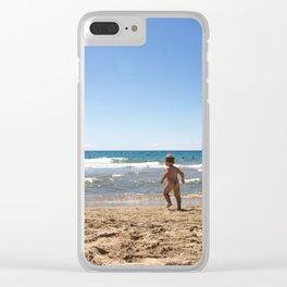 Defying waves Clear iPhone Case