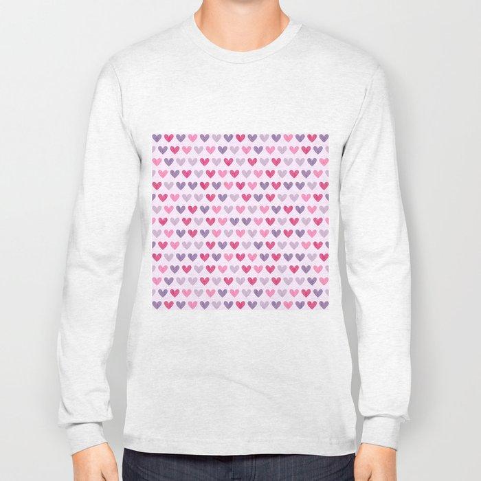Colorful hearts V Long Sleeve T-shirt