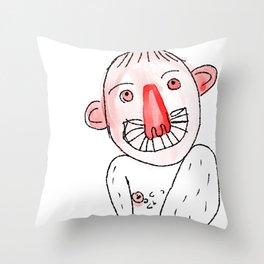 Weirdy Beardy Throw Pillow