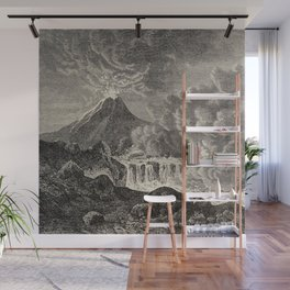 The infinitely great and the infinitely little - Félix Pouchet - 1874 Ink Volcano Illustration Wall Mural