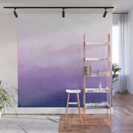 Purple Watercolor Design Wall Mural