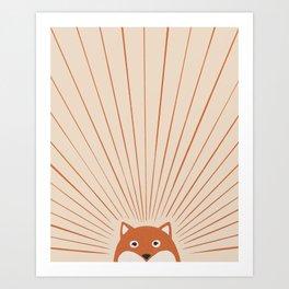 Good Morning Sun Foxy Art Print