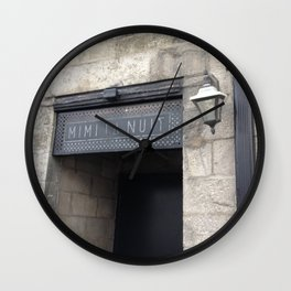 Old Montreal Stone Doorway Wall Clock