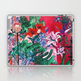 Ruby Red Floral Jungle Laptop & iPad Skin