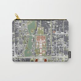 Beijing city map engraving Carry-All Pouch