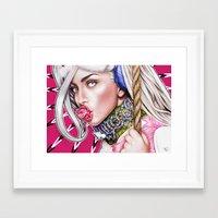 artrave Framed Art Prints featuring artRAVE by Denda Reloaded