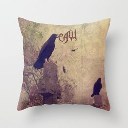 Give Warning Throw Pillow