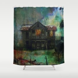 Haunted house Shower Curtain