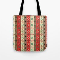 blanket Tote Bags featuring Sioux Blanket by Robin Curtiss
