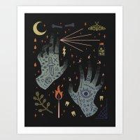 A Curse Upon You! Art Print