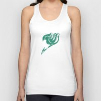 fairy tail Tank Tops featuring Fairy Tail Segmented Logo Happy by JoshBeck