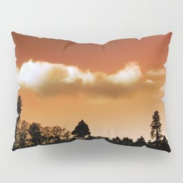 Silhouetted trees Pillow Sham