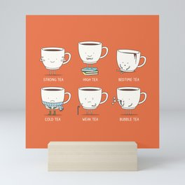 Types of tea Mini Art Print