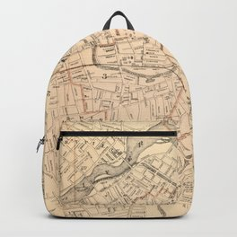 Vintage Map of Lowell MA (1904) Backpack