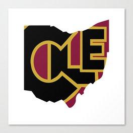 CLE, Ohio Canvas Print