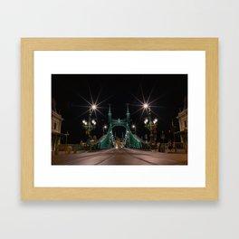 Liberty Bridge. Budapest Framed Art Print