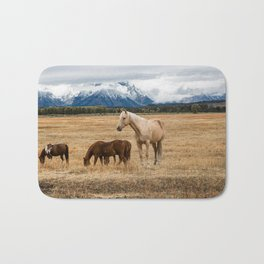 Mountain Horse - Western Style in the Grand Tetons Bath Mat