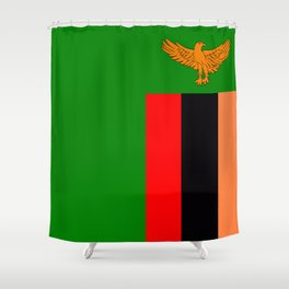 Flag of Zambia Shower Curtain