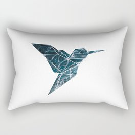 Geometric Hummingbird, Blue Hummingbird Art Rectangular Pillow