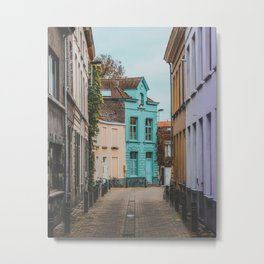 Streets of Belgium Metal Print