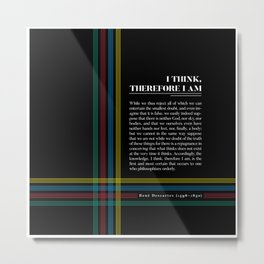 Philosophia II: I think, therefore I am Metal Print