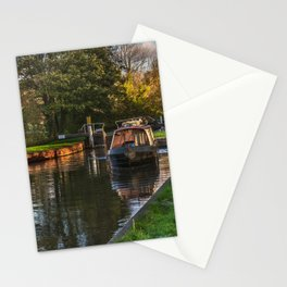 Passing Through Woolhampton Lock Stationery Cards
