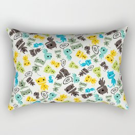 Cute Sketchy Monsters Rectangular Pillow