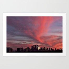 Sunset on September 18, 2016. VII Art Print