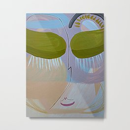 Abstract portrait Pastel Face Metal Print