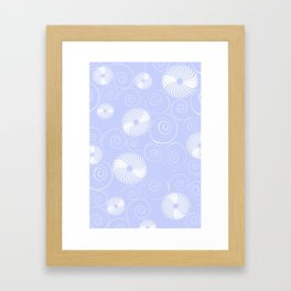 White Spirals Framed Art Print