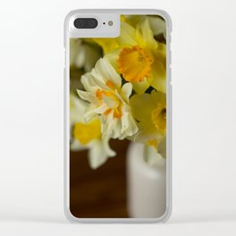 Rustic Spring Flowers Clear iPhone Case
