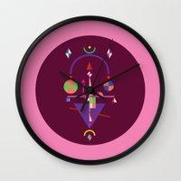 nan lawson Wall Clocks featuring NaN by 0x17