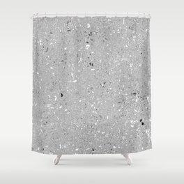 Gray Shine Texture Shower Curtain