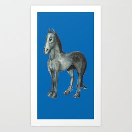 Noble Steed (blue) Art Print