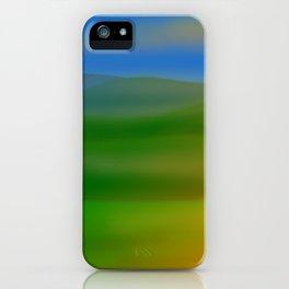 Hillscape Sunset iPhone Case