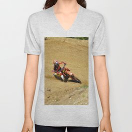 Turning Point Motocross Champion Race Unisex V-Neck