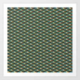Inca Pattern Art Print