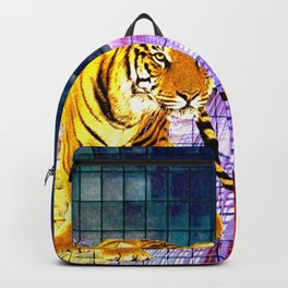 TIGER PRINT #1 - A DAY AT THE BEACH FEAT. SKYSCRAPER Backpack