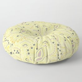 Placer dots , yellow Floor Pillow