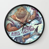 band Wall Clocks featuring The Vaccines (band poster) by Logan  Faerber