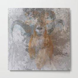 Oil paint buf Metal Print
