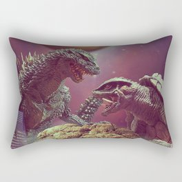 Godzilla VS Gamora  Rectangular Pillow