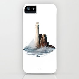 Lighthouse Light House Ocean Rocks and Waves iPhone Case