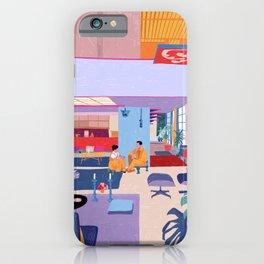 Eames House - Pencil illustration iPhone Case
