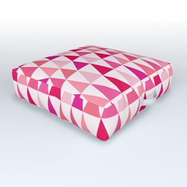 Pink Organic Geometric Abstract Triangles Outdoor Floor Cushion