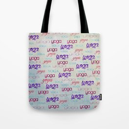 Yoga Pattern Watercolor on pastel Tote Bag