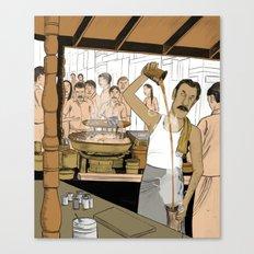 Coffee Man Canvas Print