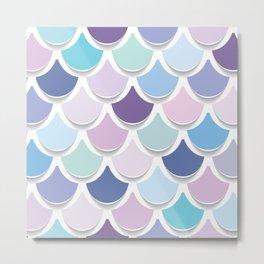 Abstract mermaid tails pattern pastel colors Metal Print