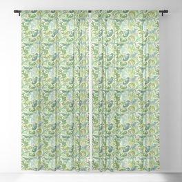 Green Dragons Sheer Curtain